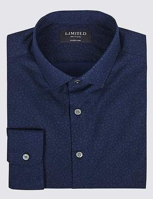 Marks and Spencer Pure Cotton Skinny Fit Shirt