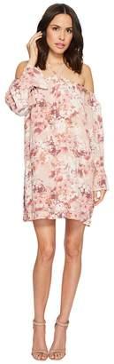 Miss Me Halter Off the Shoulder Floral Dress Women's Dress