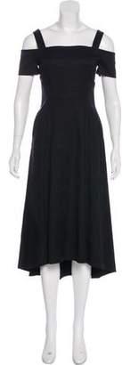 A.L.C. Cold-Shoulder Midi Dress