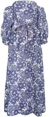 Lisa Marie Fernandez Rosie off-shoulder floral linen maxi dress