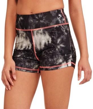Danskin Juniors' Hidden Jungle High Waisted Shorts with Shirring