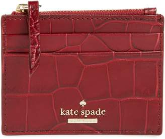 Kate Spade Murray Street - Lalena Croc Embossed Leather Card Case