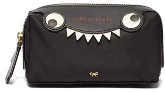 Anya Hindmarch Girlie Stuff Monster Wash Bag - Womens - Black