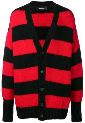 DSQUARED2 horizontal stripes cardigan
