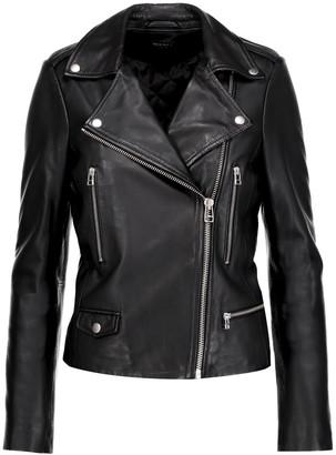 Muubaa Granger leather biker jacket $525 thestylecure.com