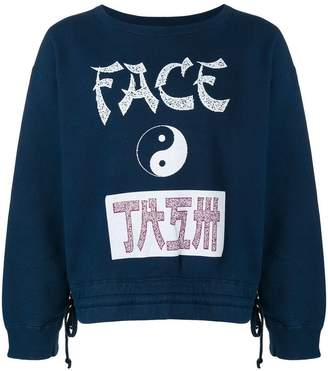 Facetasm Yin-yang print sweatshirt