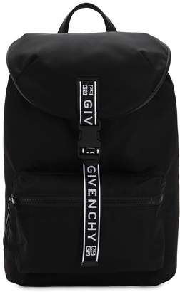 Givenchy Ultra Light Nylon Backpack W/ 4g Webbing