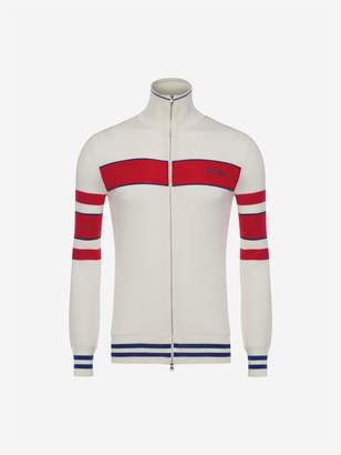 Alexander McQueen Stripe Sports Cardigan