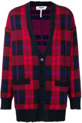 MSGM plaid cardigan