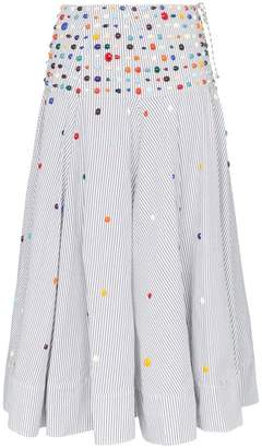Rosie Assoulin bead-embellished striped skirt