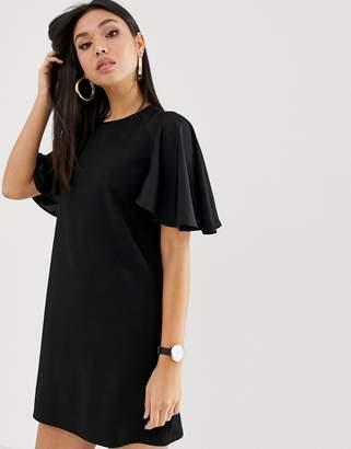 Asos Design DESIGN mini shift dress with woven sleeves