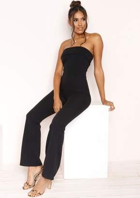 baf71db8616b Missy Empire Missyempire Cassie Black Bandeau Jumpsuit