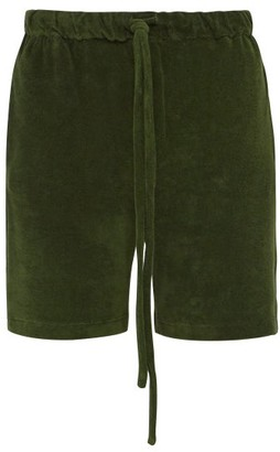 Hecho - Cotton Terry Shorts - Mens - Green