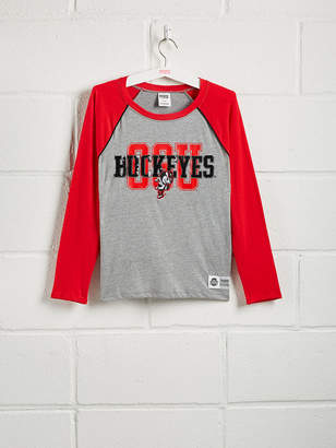 PINK The Ohio State University Sequin Bling Baseball Tee