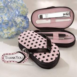 Kate Aspen Target.com Use Only 6ct Pink Polka Flip Flop Pedicure Set