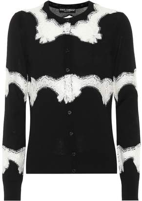 Dolce & Gabbana Lace and wool-blend cardigan