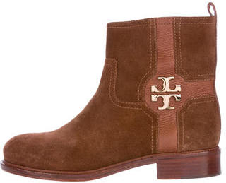 Tory Burch Tory Burch Logo-Embellished Ankle Boots