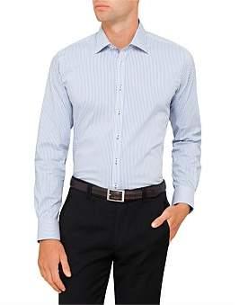 Geoffrey Beene Squaw Valley Stretch Stripe Body Fit Shirt