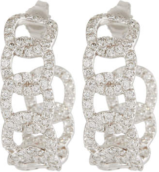 Roberto Coin 18k White Gold Diamond Cable Earrings