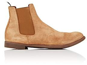 Officine Creative Men's Washed Suede Chelsea Boots-Dk. brown
