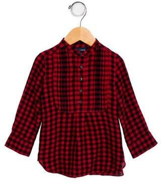 Ralph Lauren Girls' Plaid Long Sleeve Tunic