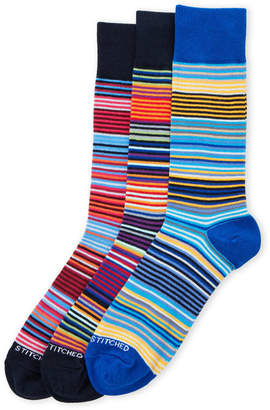 unsimply stitched 3-Pack All Stripe Crew Socks