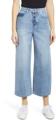 Vero Moda Kathy High Waist Wide Leg Crop Nonstretch Jeans
