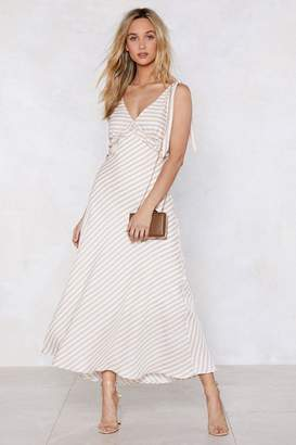 Nasty Gal Feeling Classy Striped Dress