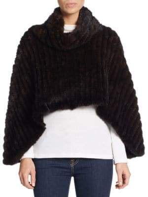 Saks Fifth Avenue Mink Fur Poncho
