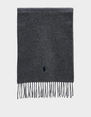 Polo Ralph Lauren Wool Scarf in Classic Heather Grey