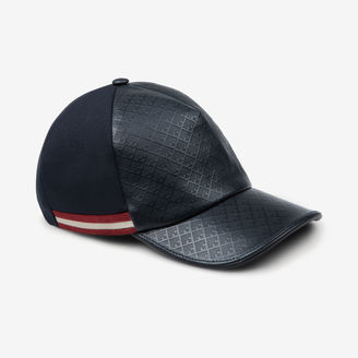 Printed Leather Baseball Cap $350 thestylecure.com
