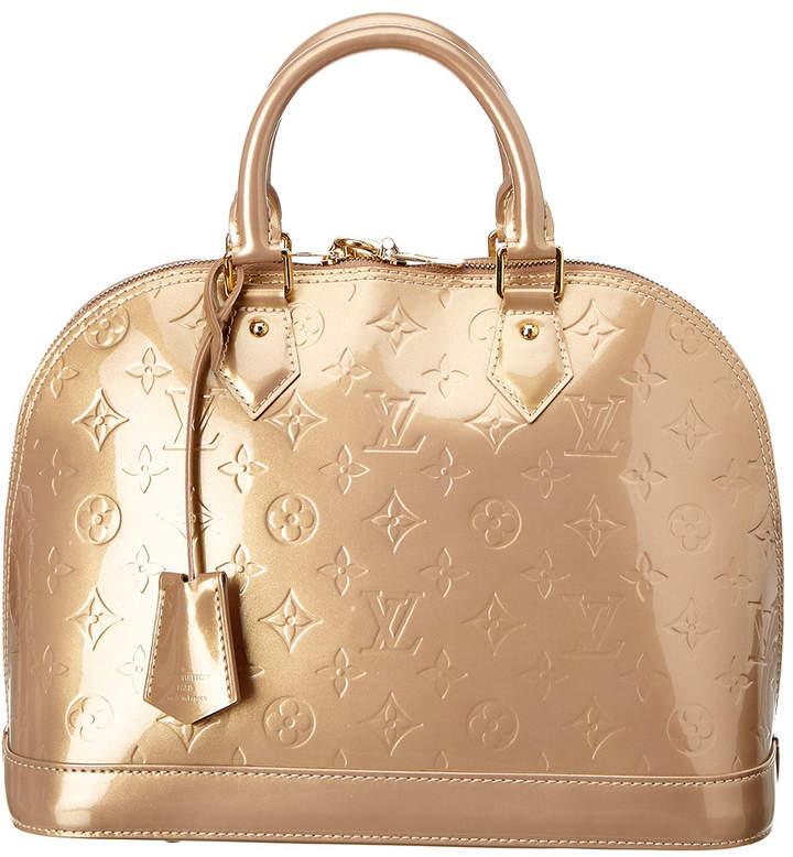 Louis Vuitton Beige Monogram Vernis Leather Alma Pm