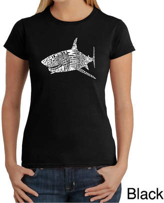 LOS ANGELES POP ART Los Angeles Pop Art Species Of Shark Graphic T-Shirt