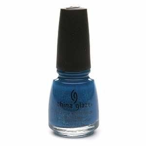 China Glaze Neon Nail Laquer with Hardeners, Turned Up Turquise #1007