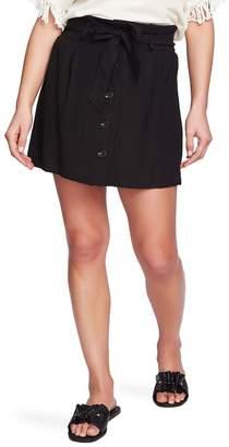 1 STATE 1.State Tie Waist Button Front Miniskirt