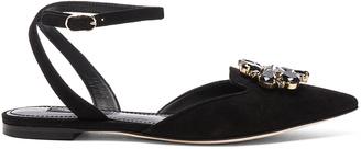 Dolce & Gabbana Suede Belucci Flats $875 thestylecure.com