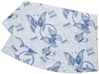 """Tory Burch BUTTERFLY BATIK ROUND TABLECLOTH, 90"""""""