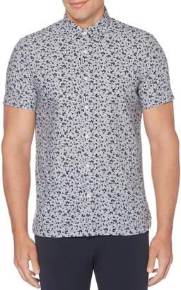 Perry Ellis Big Tall Abstract Floral Short Sleeve Sport Shirt