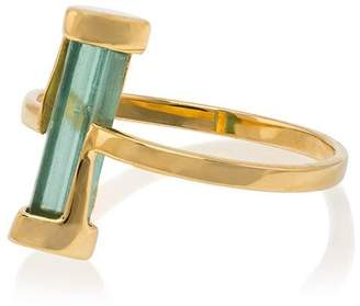 Jessie Western 18k yellow gold Kinetic green tourmaline ring