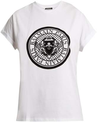 Balmain Coin-print cotton-jersey T-shirt