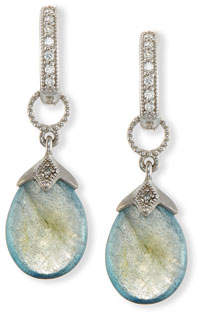 Jude Frances Pear-Shaped Labradorite Briolette Earring Charms with Diamonds