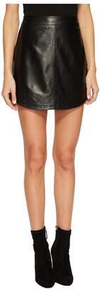 BB Dakota Conrad Leather Mini Skirt Women's Skirt