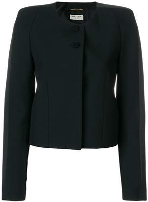 Saint Laurent fitted collarless jacket