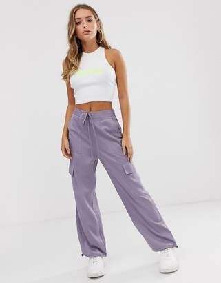 Asos Design DESIGN utility trousers with pocket detail