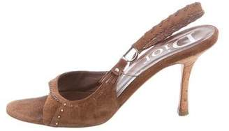 Christian Dior Suede Slingback Sandals