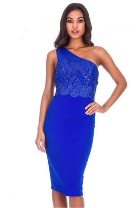 AX Paris One Shoulder Sequin Embroidered Bodycon Dress