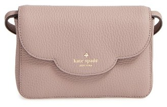 Kate Spade New York Leewood Place Joley Leather Crossbody Bag - Metallic $198 thestylecure.com