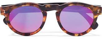 Illesteva - Leonard Round-frame Tortoiseshell Acetate Mirorred Sunglasses $180 thestylecure.com