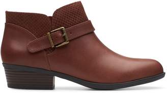 Clarks Addiy Sharilyn Leather Booties