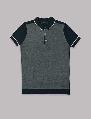 Autograph Cotton Rich Knitted Polo Shirt (3-16 Years)